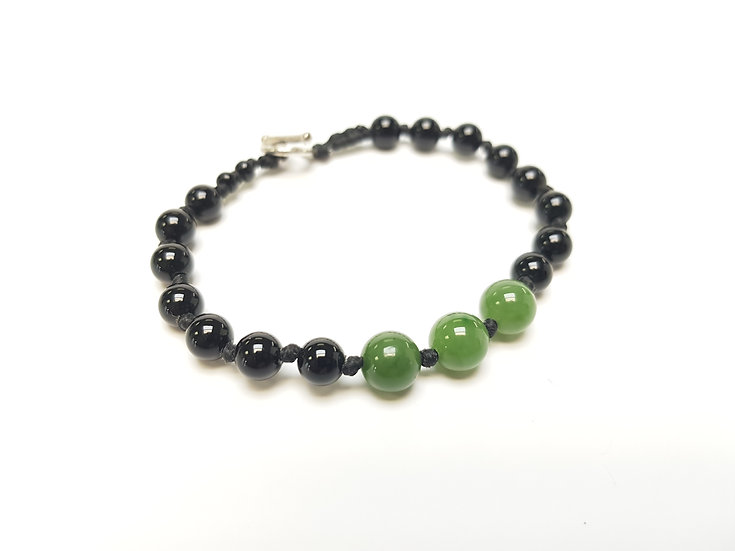 8mm Jade and 6mm agate