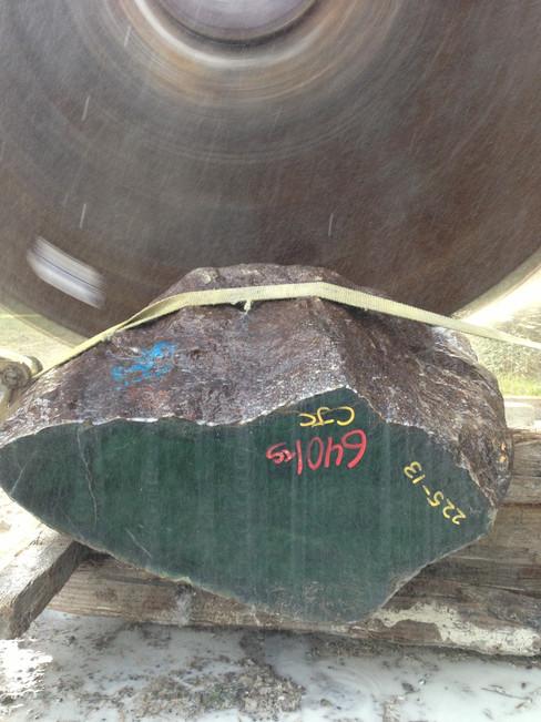 jade boulder getting cut