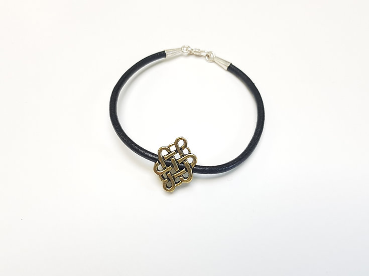 Leather Silver and endless knot