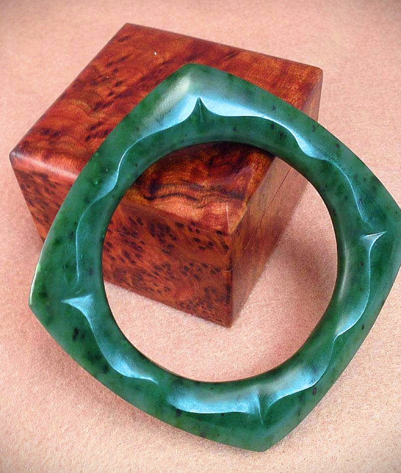 Jade Lotus Bangle