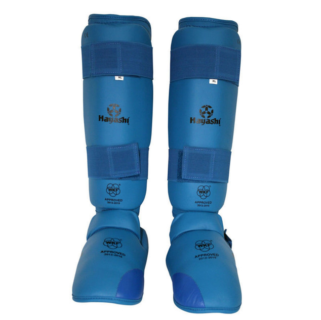 WKF Foot and shin protection - Blue $49.95