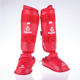WKF Foot and shin protection - Red $49.95