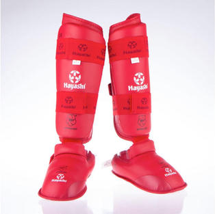 WKF Foot and shin protection - Red $59.95