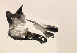 Reclining Siamese Cat #1- SOLD