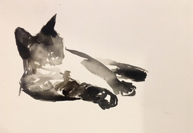 Reclining Siamese Cat #1- SOLD