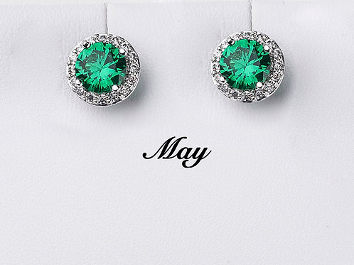 May Birthstone Earrings