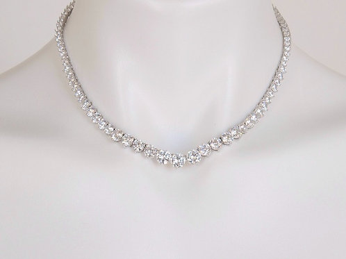 "16"" Parer Graduated ( EXCLUSIVE ) Cubic Zirconia Necklace"