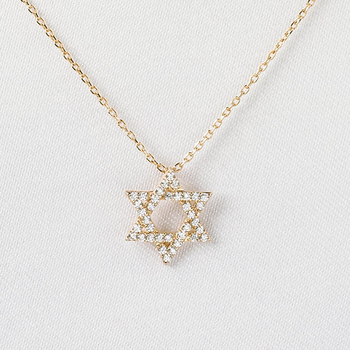 Pavé Star of David in Gold