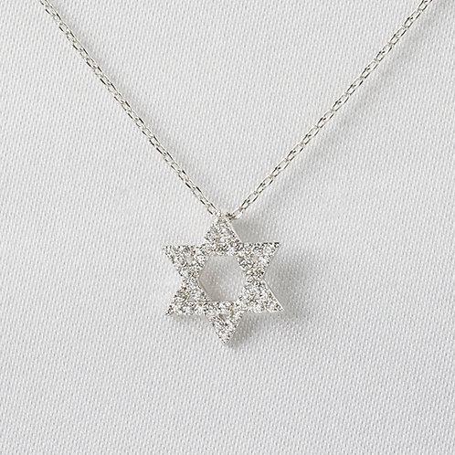 Pavé Star of David in Silver