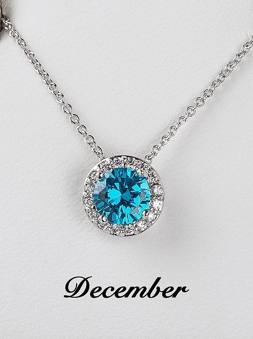 December Birthstone Necklace