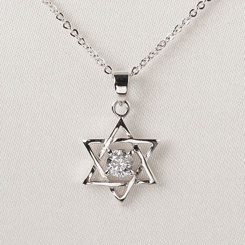 Star of David with Zircon