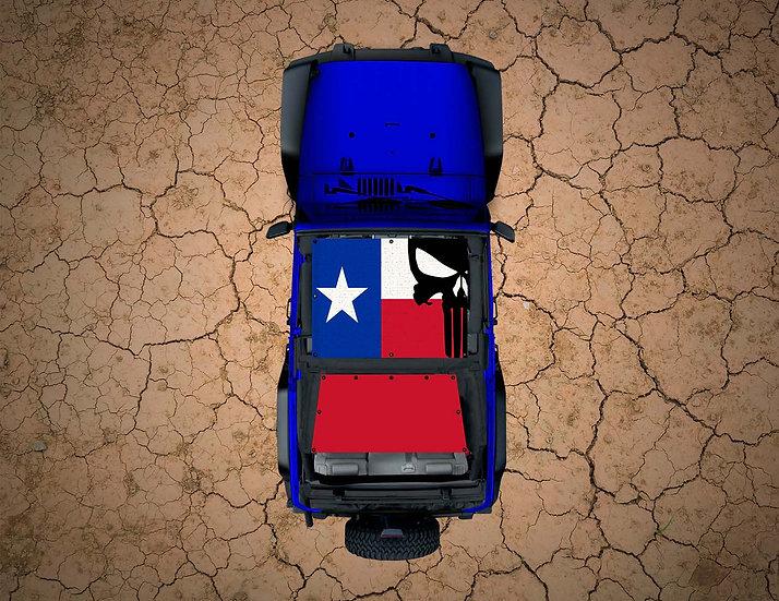 Mojo Jeep- Texas Flag Punisher YJ Shade
