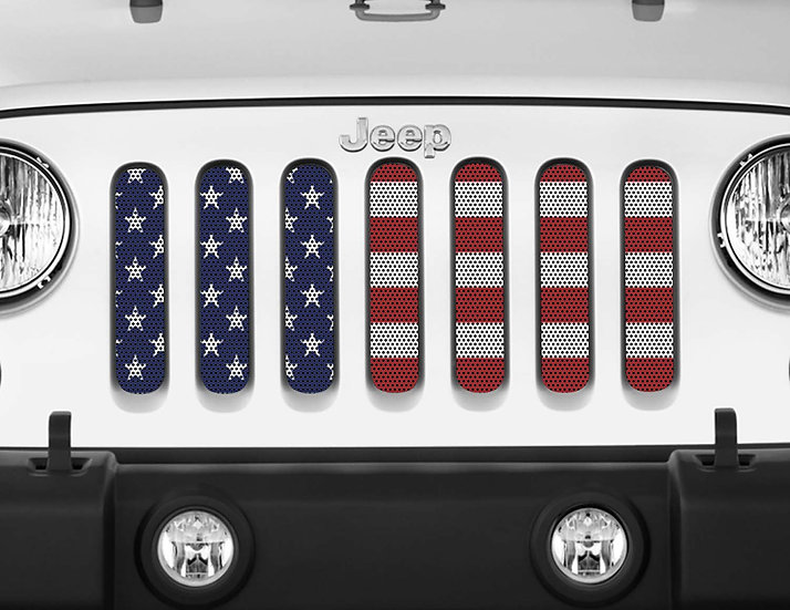 Mojo Jeep Grill Insert- USA Flag Full Color