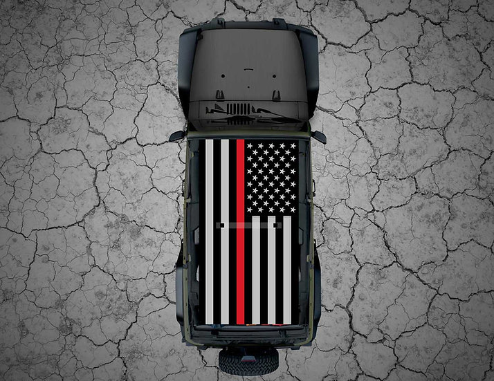 Mojo Jeep - Tactical or Camo US Flag Thin Red Line