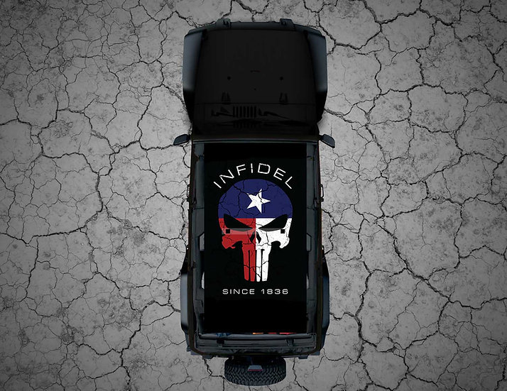 Mojo Jeep - FULL COLOR Texas Punisher INFIDEL