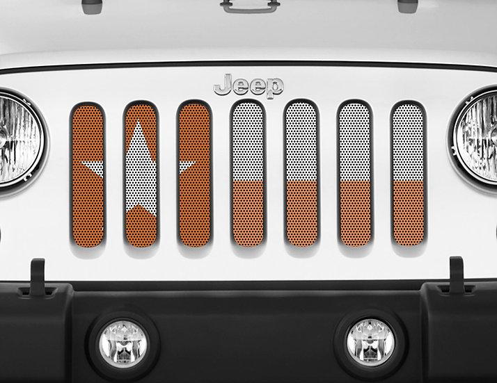 Mojo Jeep Grill Insert- Texas Flag Burnt Orange