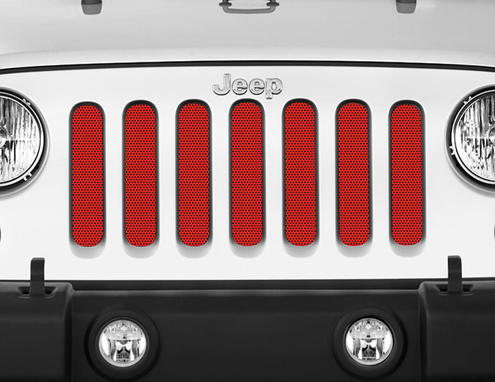 Mojo Jeep Grill Insert- Red