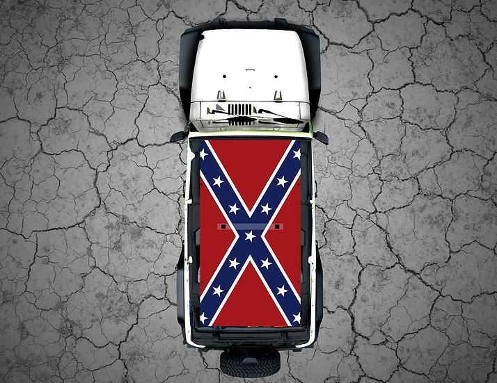 Mojo Jeep - FULL COLOR Rebel Flag