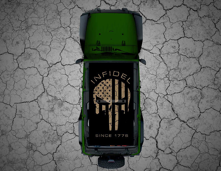 Mojo Jeep - Subdued TAN USA Punisher INFIDEL