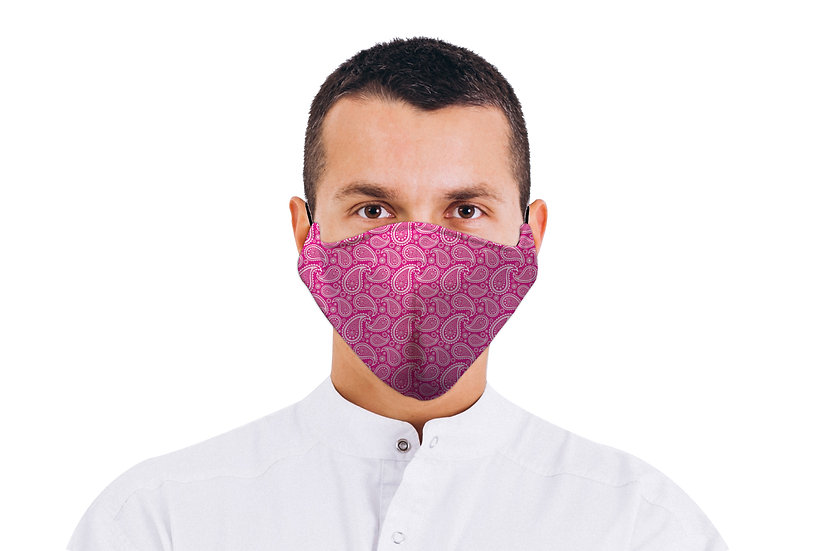 Face Mask Pink Paisley