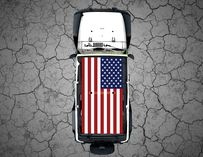 Mojo Jeep - FULL COLOR US Flag