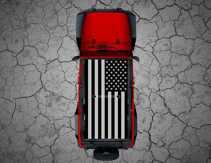 Mojo Jeep - Tactical US Flag Thin Blue/Red Line
