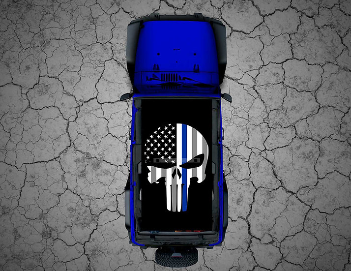 Mojo Jeep -Subdued US Punisher Thin Blue Line