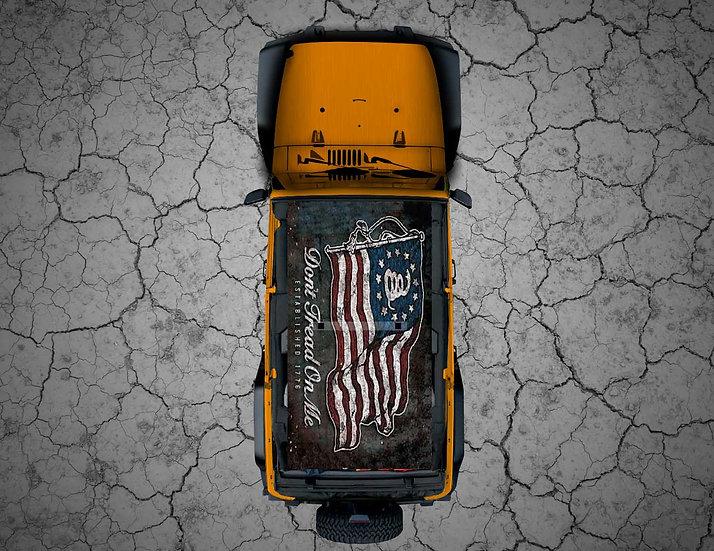 Mojo Jeep - USA Flag - Dont Tread on Me