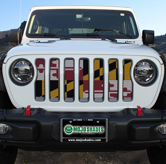 Mojo Jeep Grill Insert-Maryland Flag