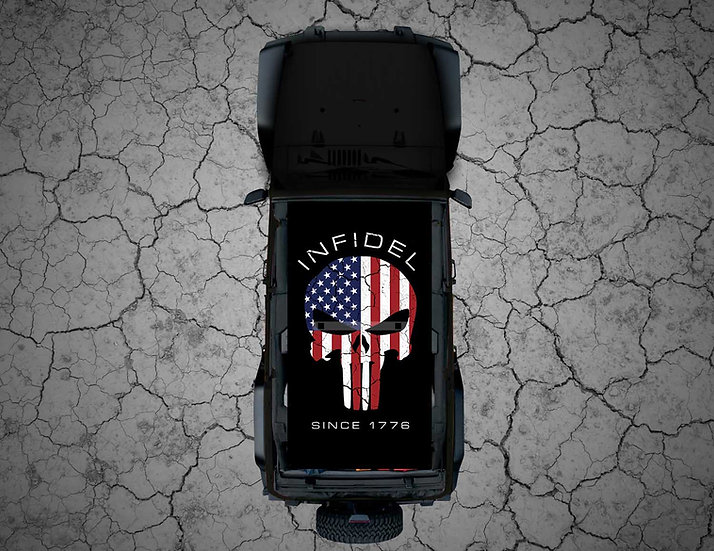 Mojo Jeep - FULL COLOR USA Punisher INFIDEL