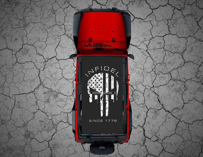 Mojo Jeep - Subdued USA Punisher INFIDEL