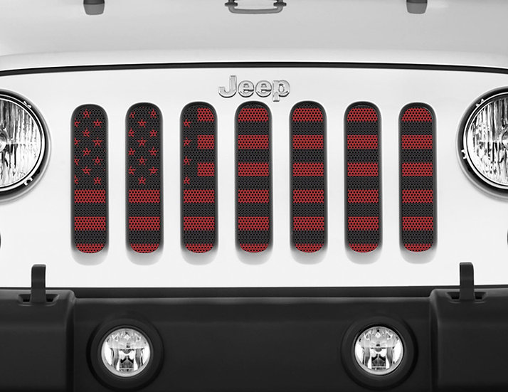 Mojo Jeep Grill Insert- USA Flag Colored Choose Color