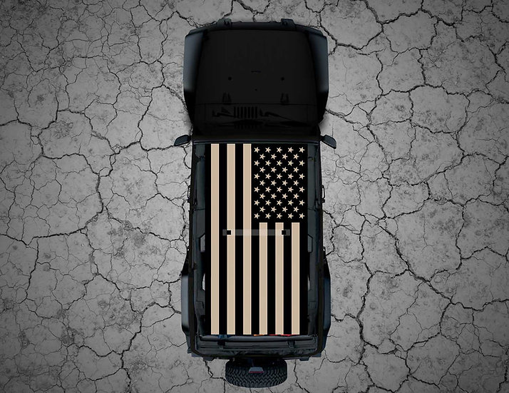 Mojo Jeep - Colored US Flag