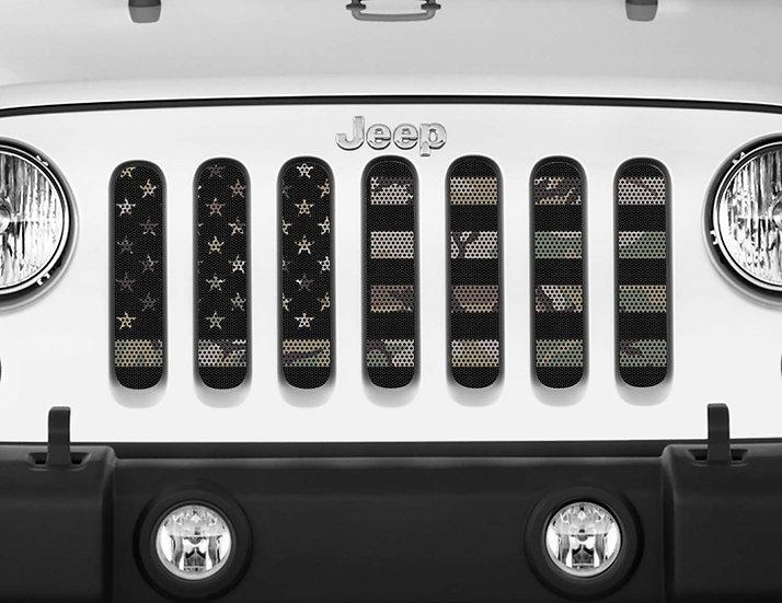 Mojo Jeep Grill Insert- USA Flag Camo