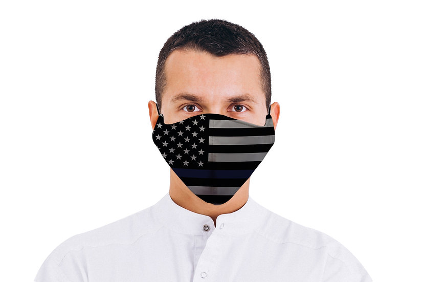 Face Mask American Flag Thin Blue Line