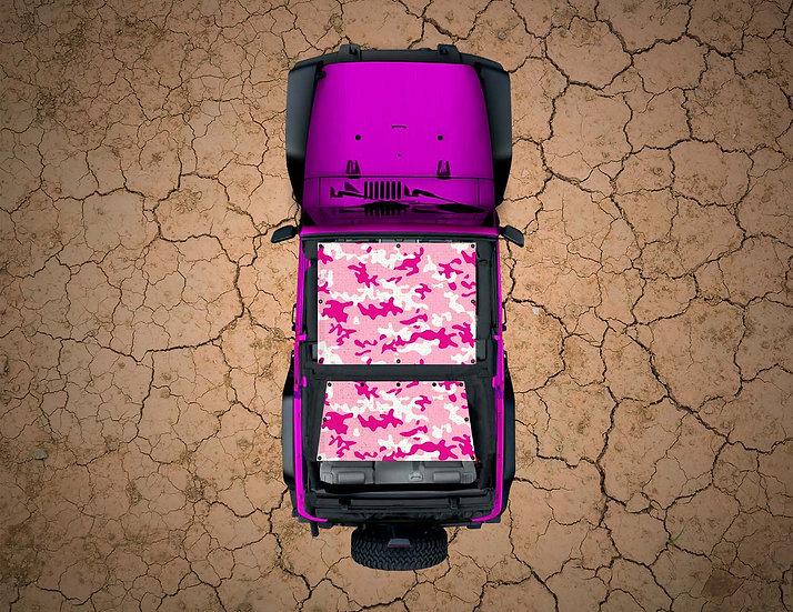 Mojo Jeep- Pink Camo YJ Shade