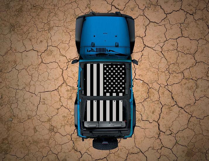 Mojo Jeep- USA Flag- Subdued YJ Shade
