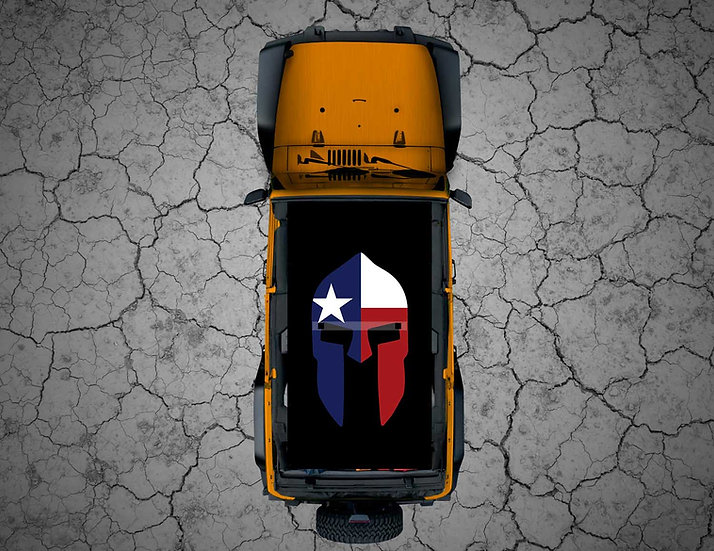 Mojo Jeep - FULL COLOR Texas Spartan Helmet