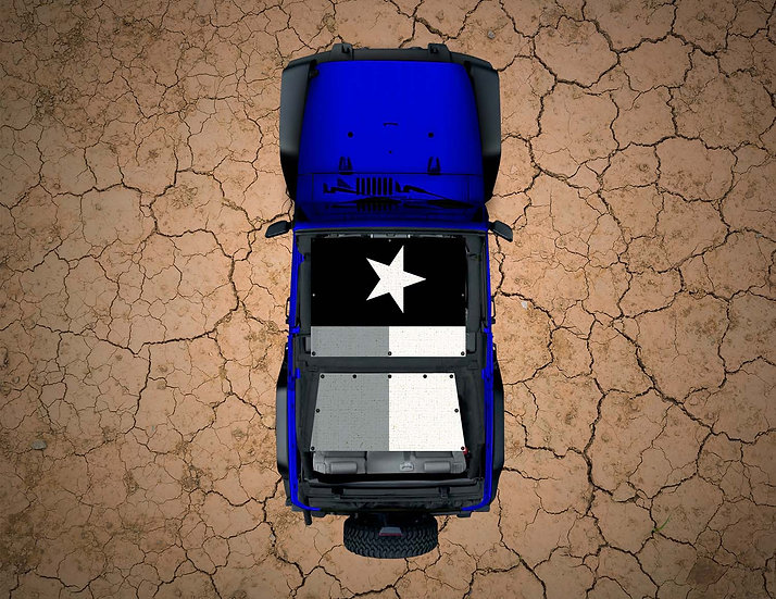 Mojo Jeep- Texas Flag Subdued YJ Shade