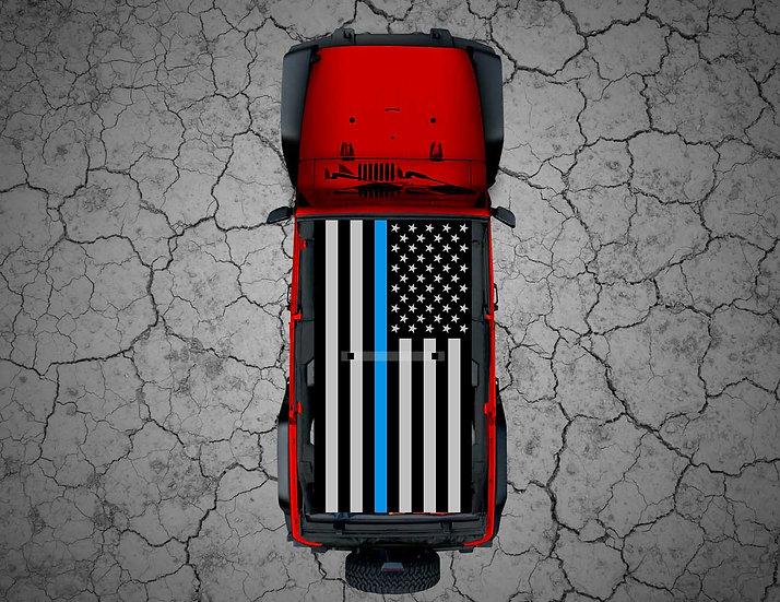 Mojo Jeep - Tactical or Camo US Flag Thin Blue