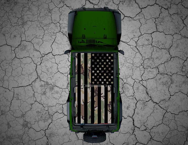 Mojo Jeep - Camo US Flag