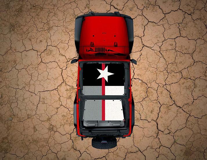 Mojo Jeep- Texas Flag Thin Red Line Subdued YJ Shade