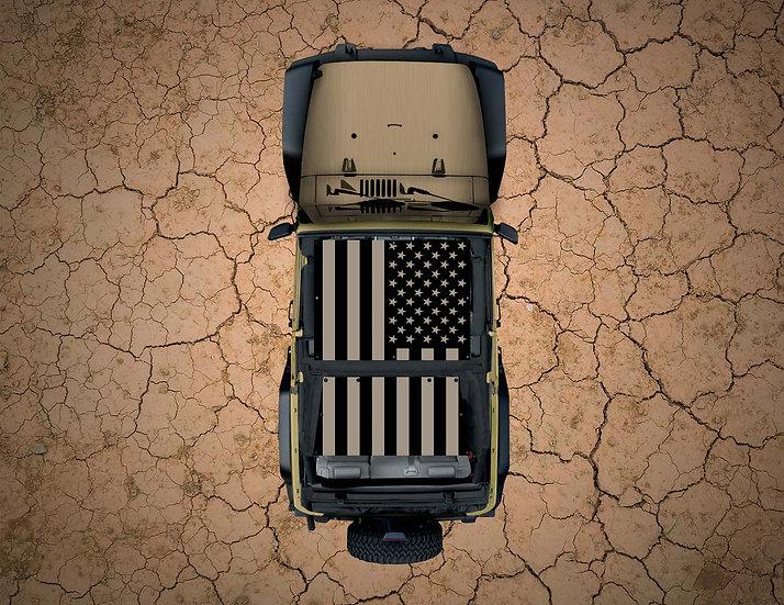 Mojo Jeep- USA Flag Tan YJ Shade