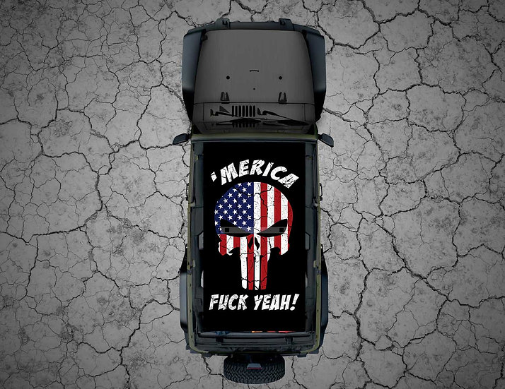 "Mojo Jeep - FULL COLOR USA Punisher ""Merica Fuck Yeah!"""