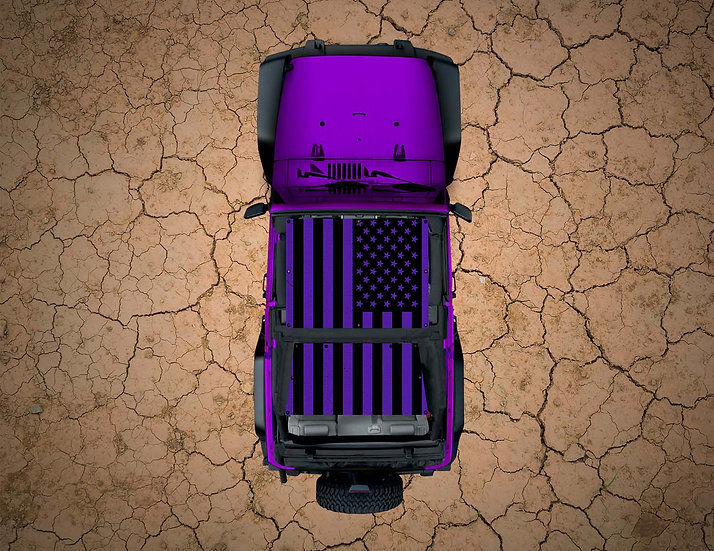 Mojo Jeep- USA Flag Purple YJ Shade