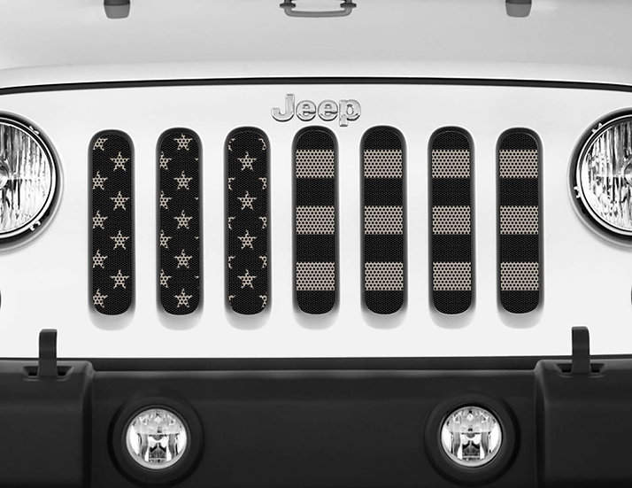 Mojo Jeep Grill Insert- USA Flag Subdued