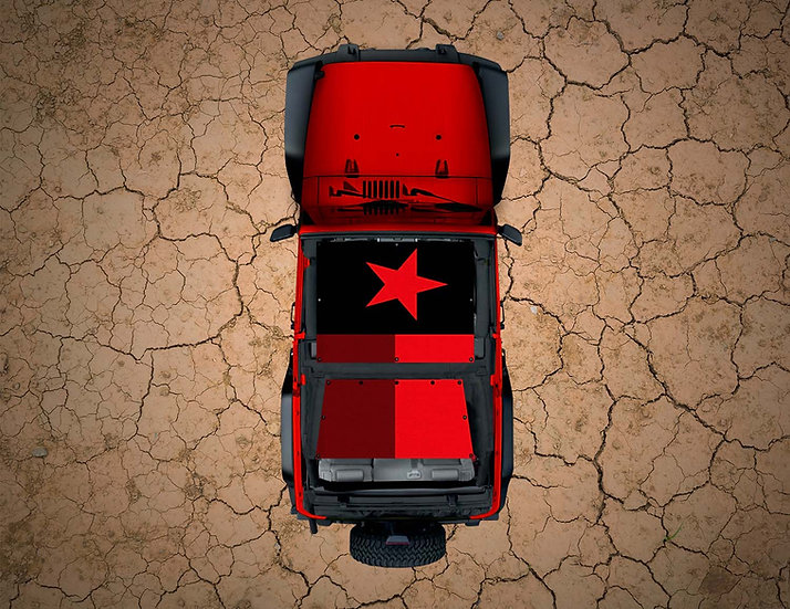 Mojo Jeep- Texas Flag Red YJ Shade