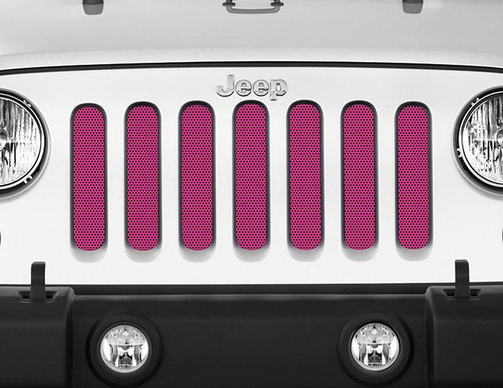 Mojo Jeep Grill Insert- Dark Pink