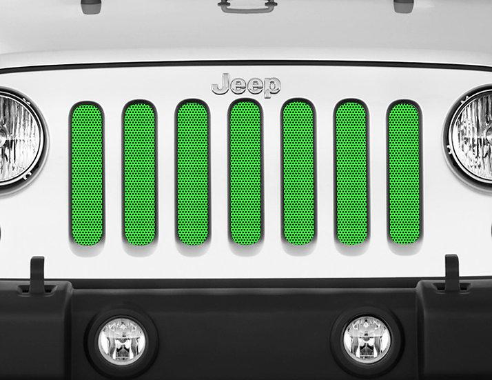Mojo Jeep Grill Insert- Neon Green