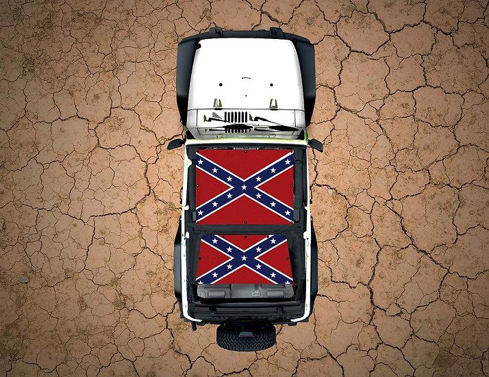 Mojo Jeep- Rebel Flag YJ Shade